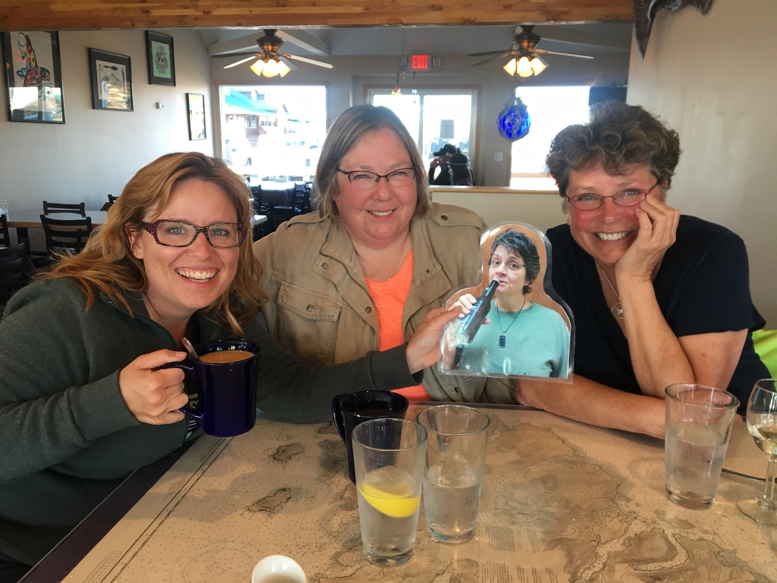 Me with Lynne Schoenborn, Sue Keator and Flat Michelle.