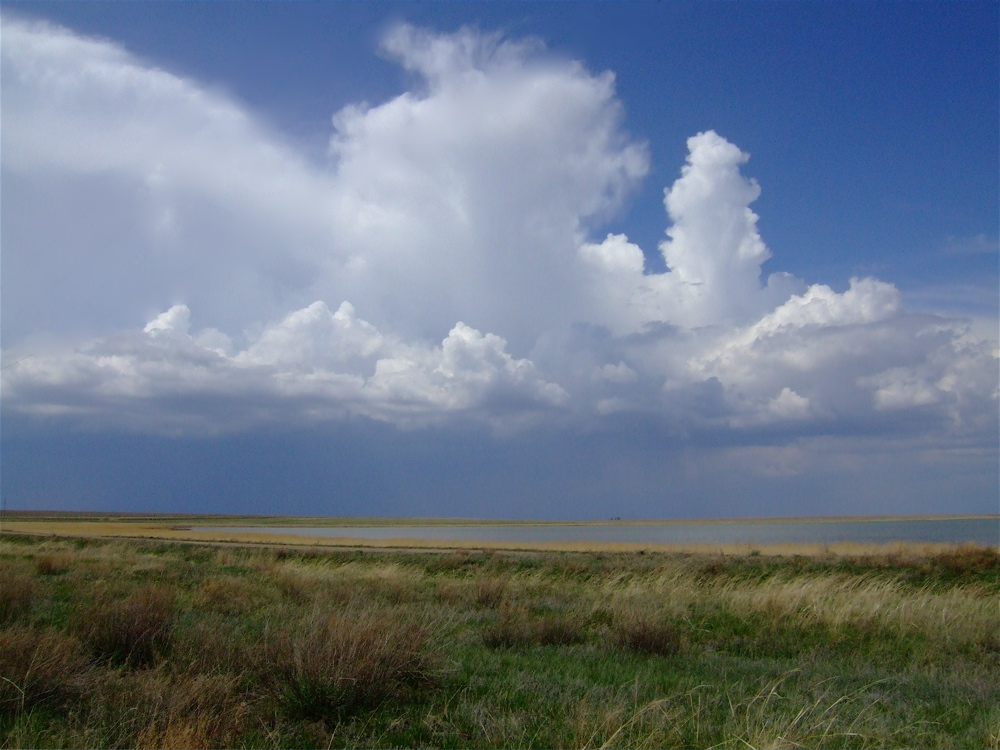 Storm approaches on the Kazakh Steppes. One of the many places I've been thanks to my college degree.