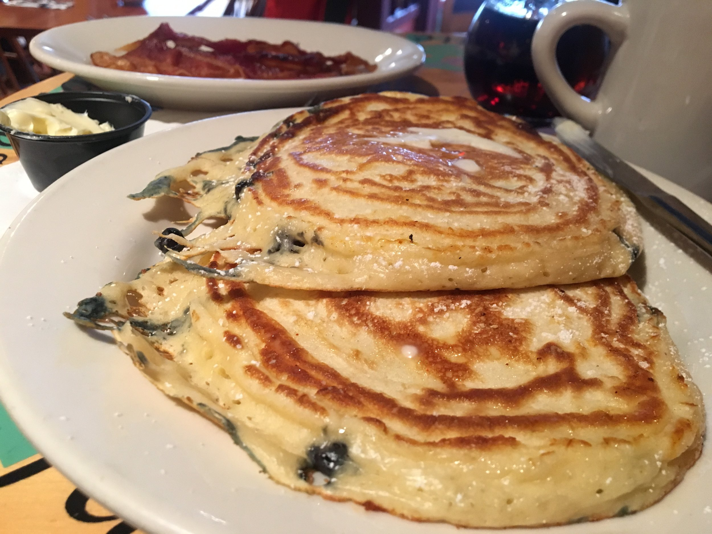 And since we are keeping with a blue theme, one must devour some blueberry pancakes while in Maine. I highly recommend  Sips  in Southwest Harbor. A delightful restaurant with great coffee and lovely atmosphere.