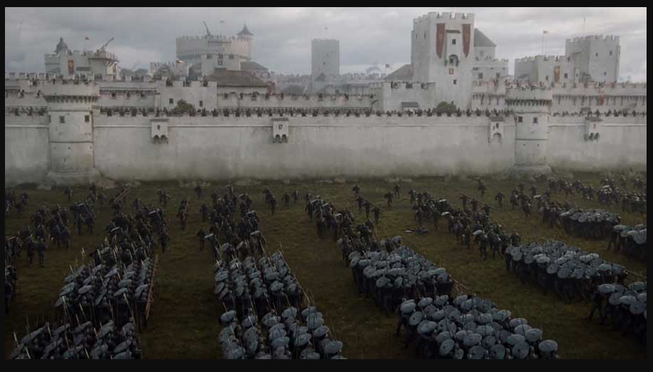 Casterly Rock in the season 7 tv show. Keep in mind that the books said it was more like  this .
