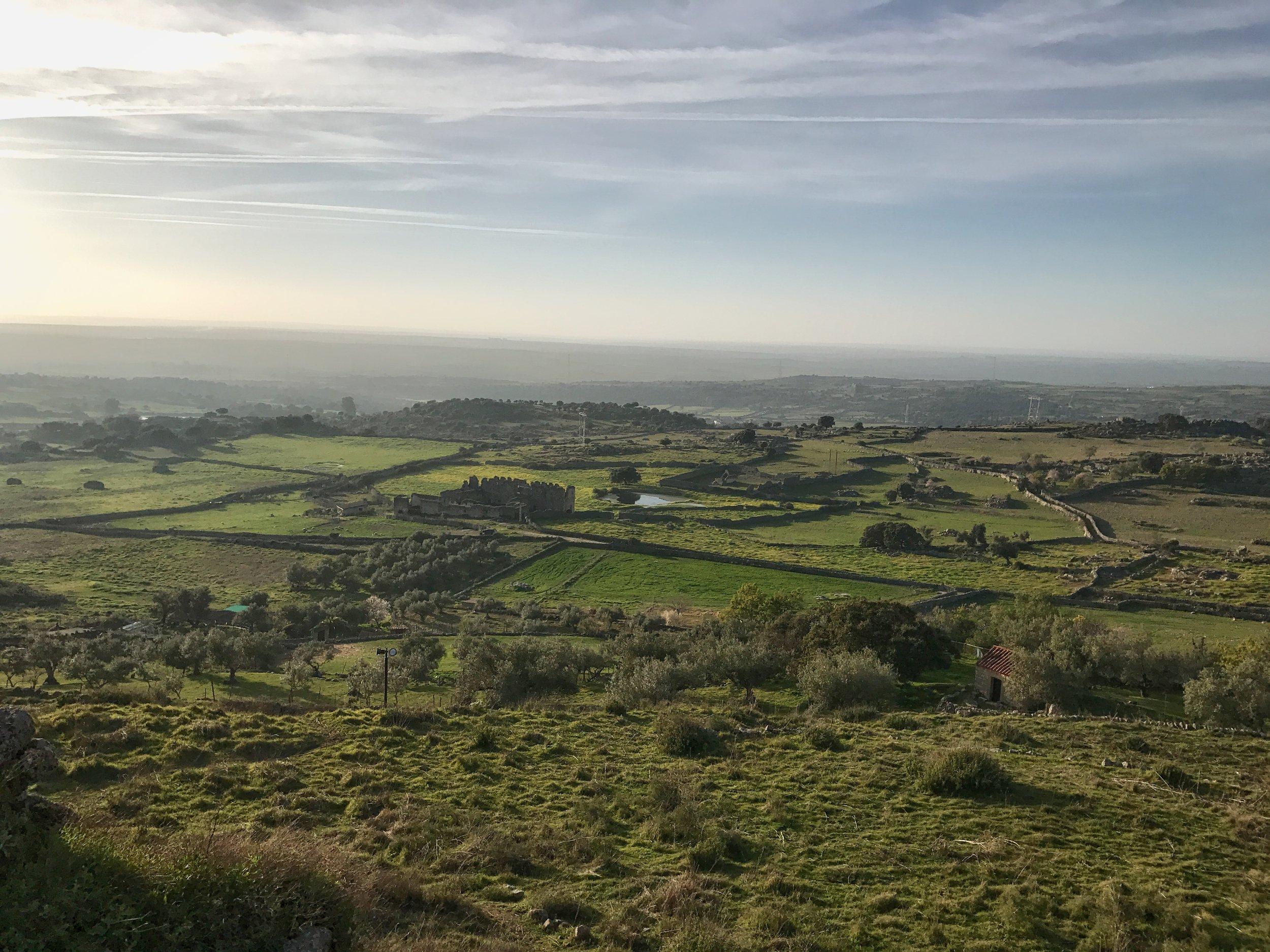 View from Trujillo Castle.