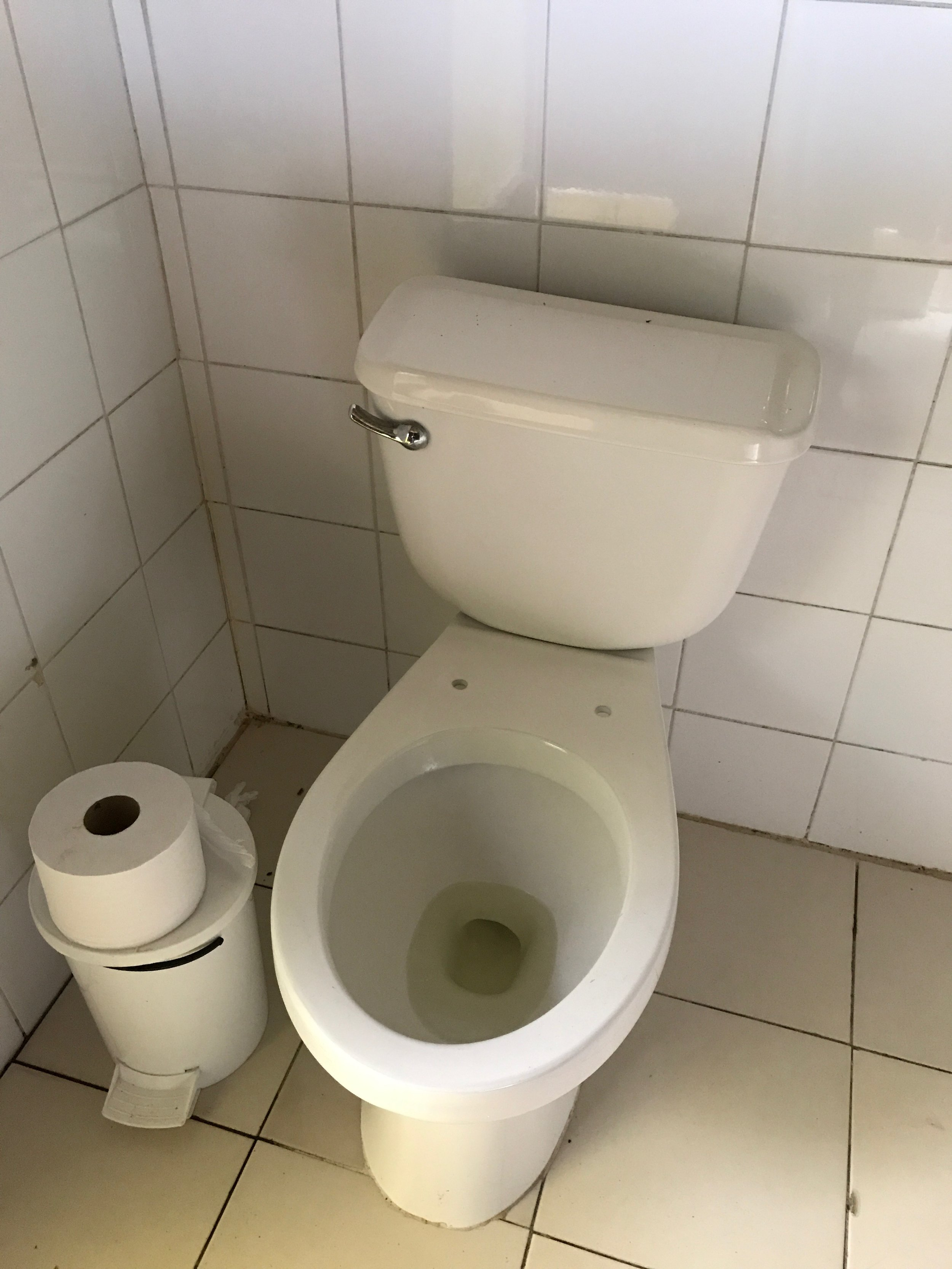 Typical Cuban restroom.