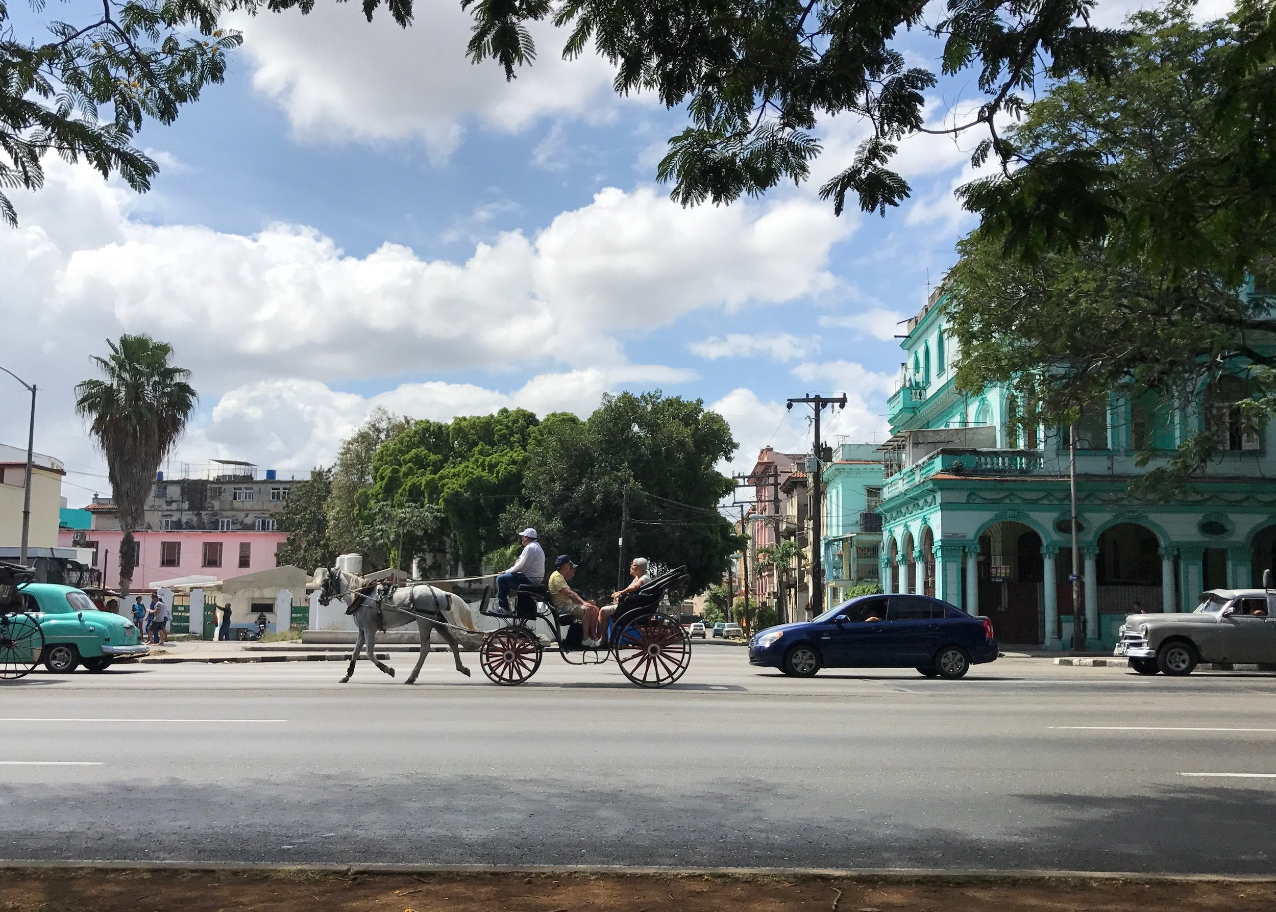 It's not all classic cars in Havana. There's the horse and buggy crowd as well.