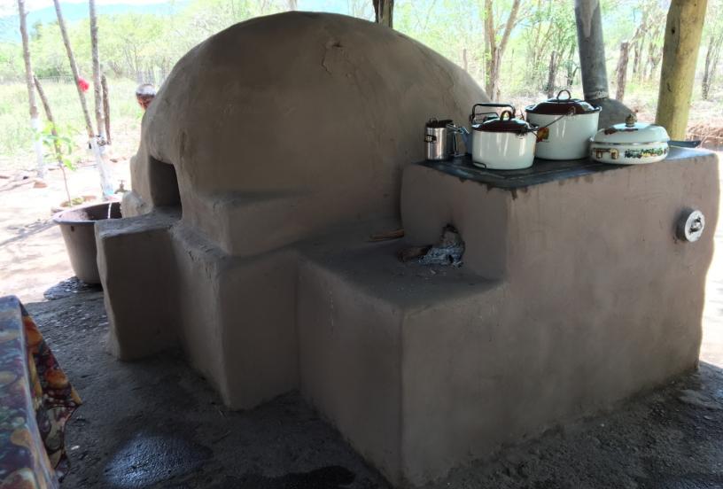 Outdoor kitchen in Honduras.