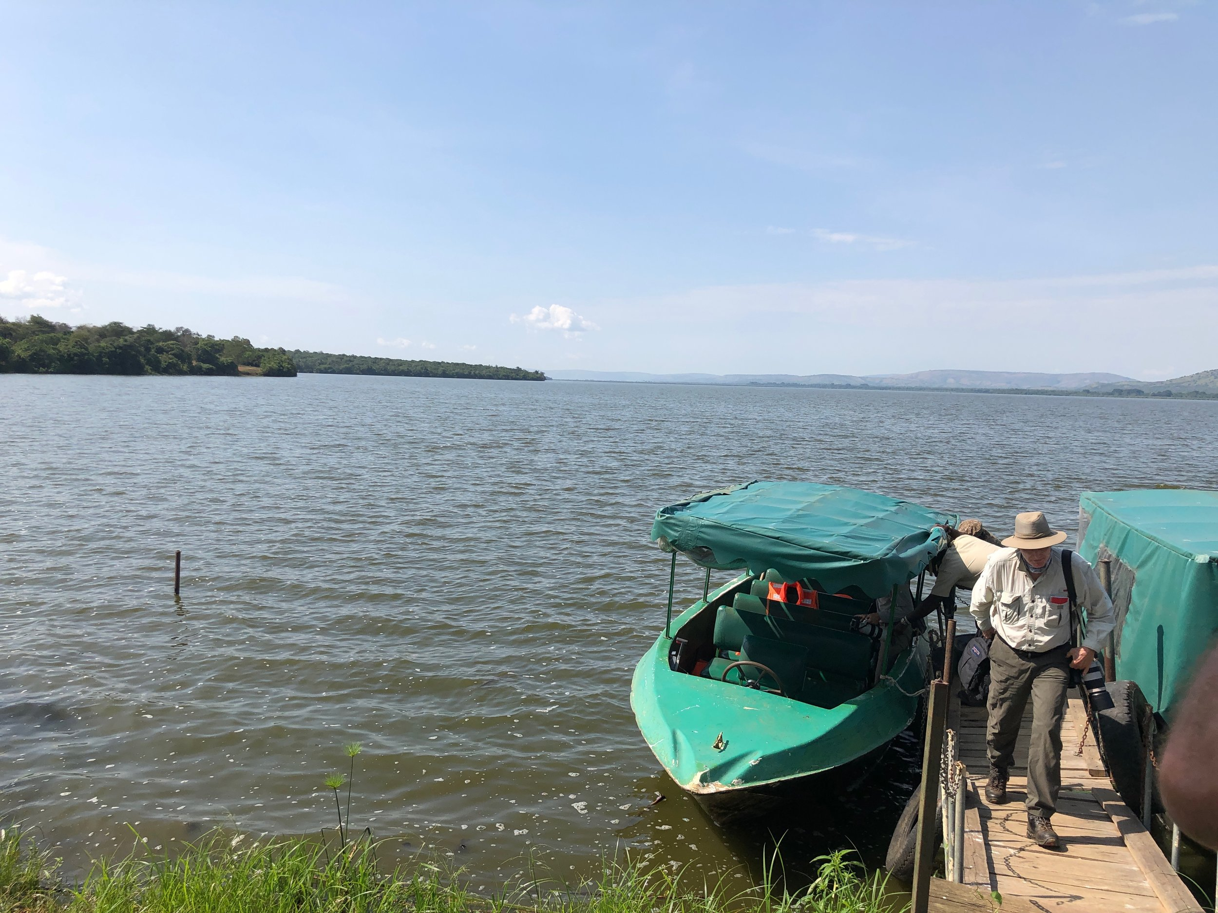 The boats we would take to explore Lake Mburo.