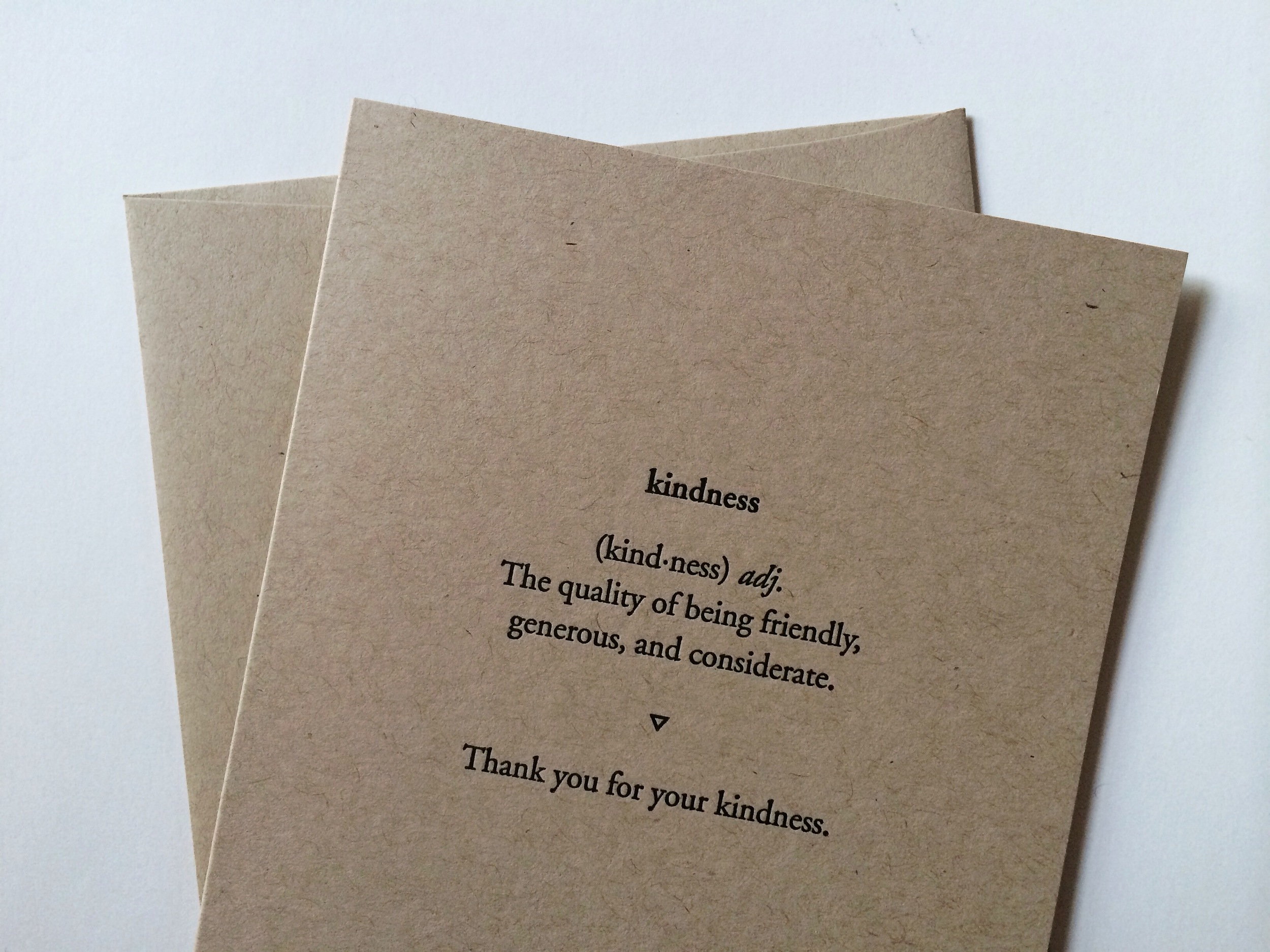 Thank you for your kindness. | Of Note Stationers