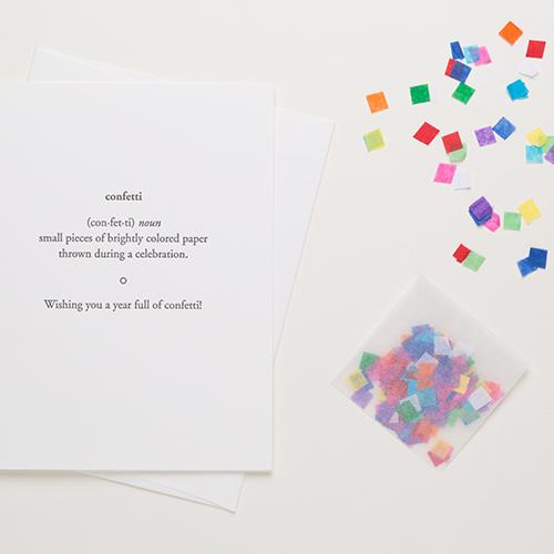 Confetti with Confetti | Of Note Stationers