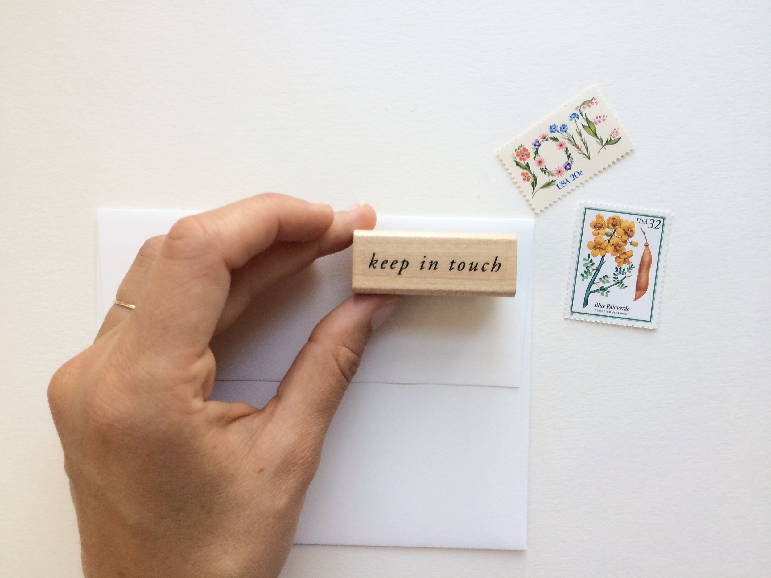 Keep in Touch Rubber Stamp   Of Note Stationers