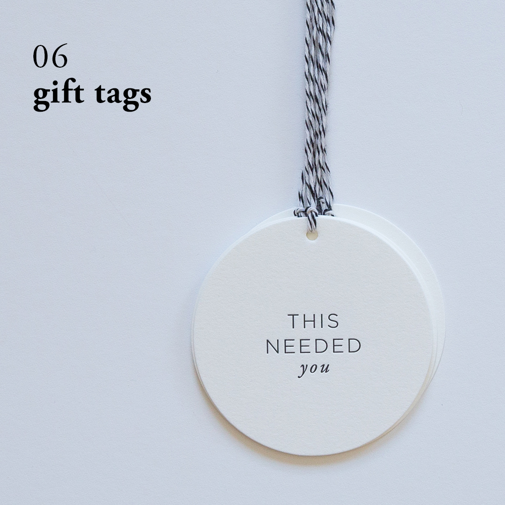 This Needed You Gift Tags | Of Note Stationers