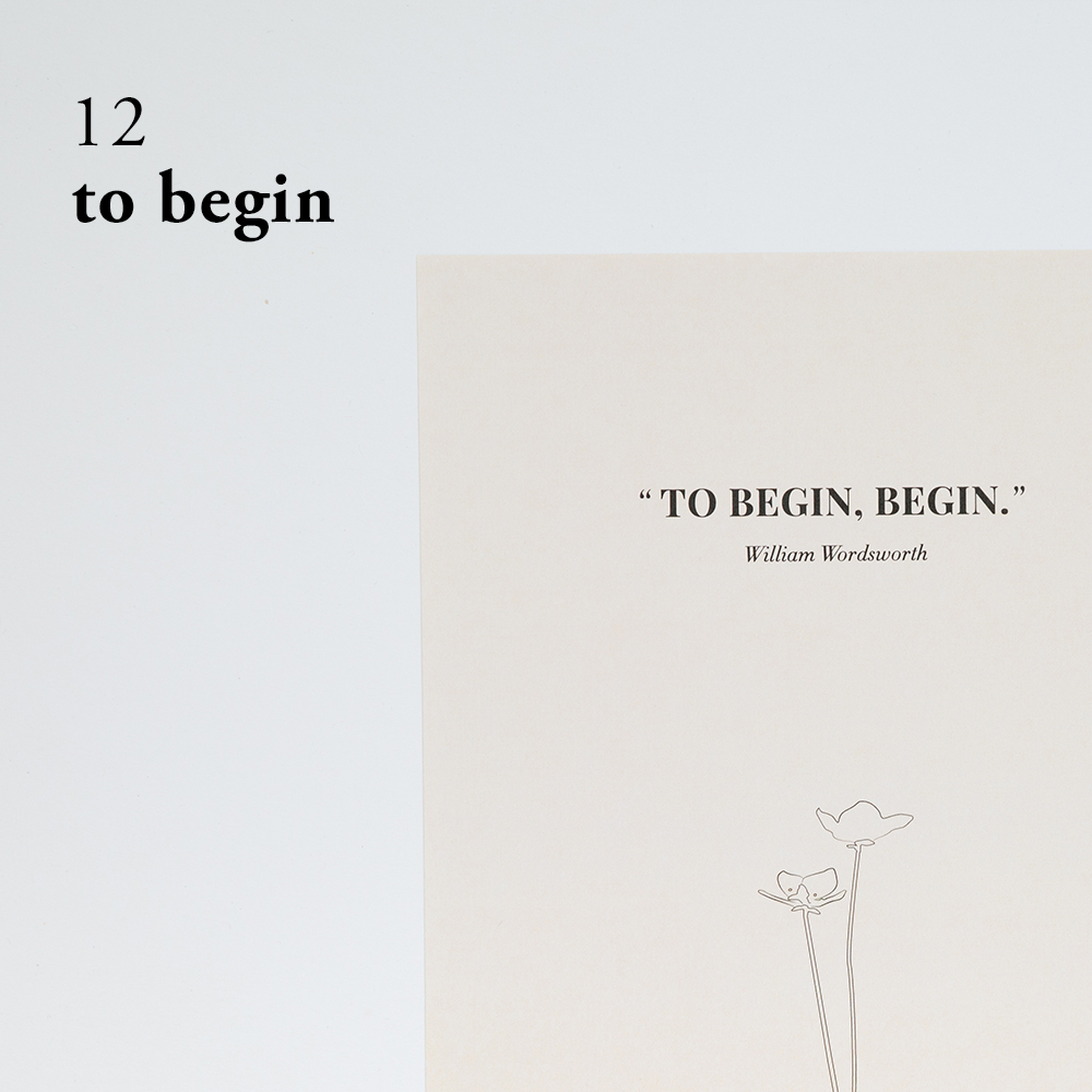 To Begin, Begin | Art Print By Of Note Stationers