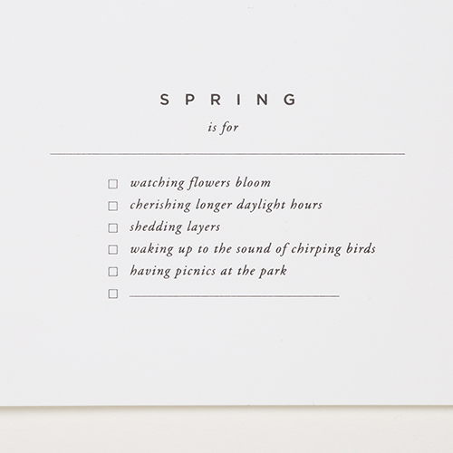 Spring is for | Of Note Stationers