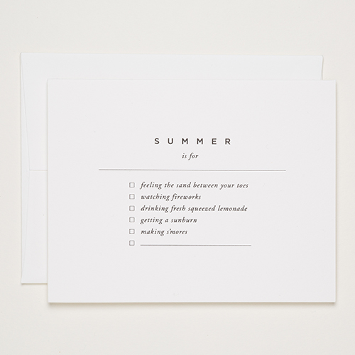 Summer is For | Of Note Stationers