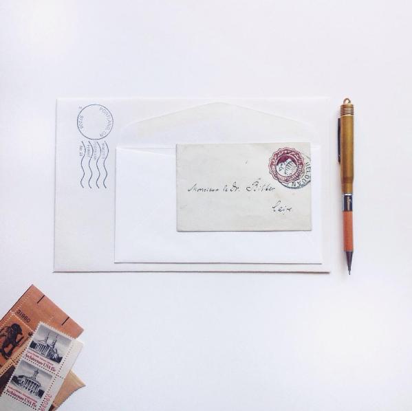 Snail mail goodness from @evamoonpress.