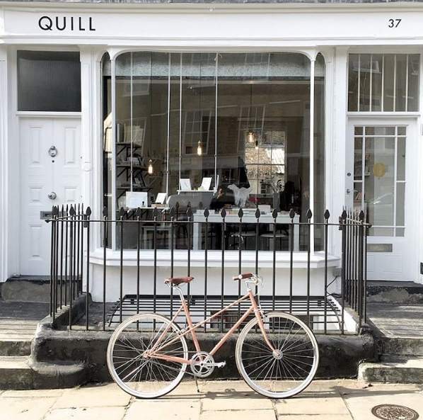 Store-front view of Quill in London.