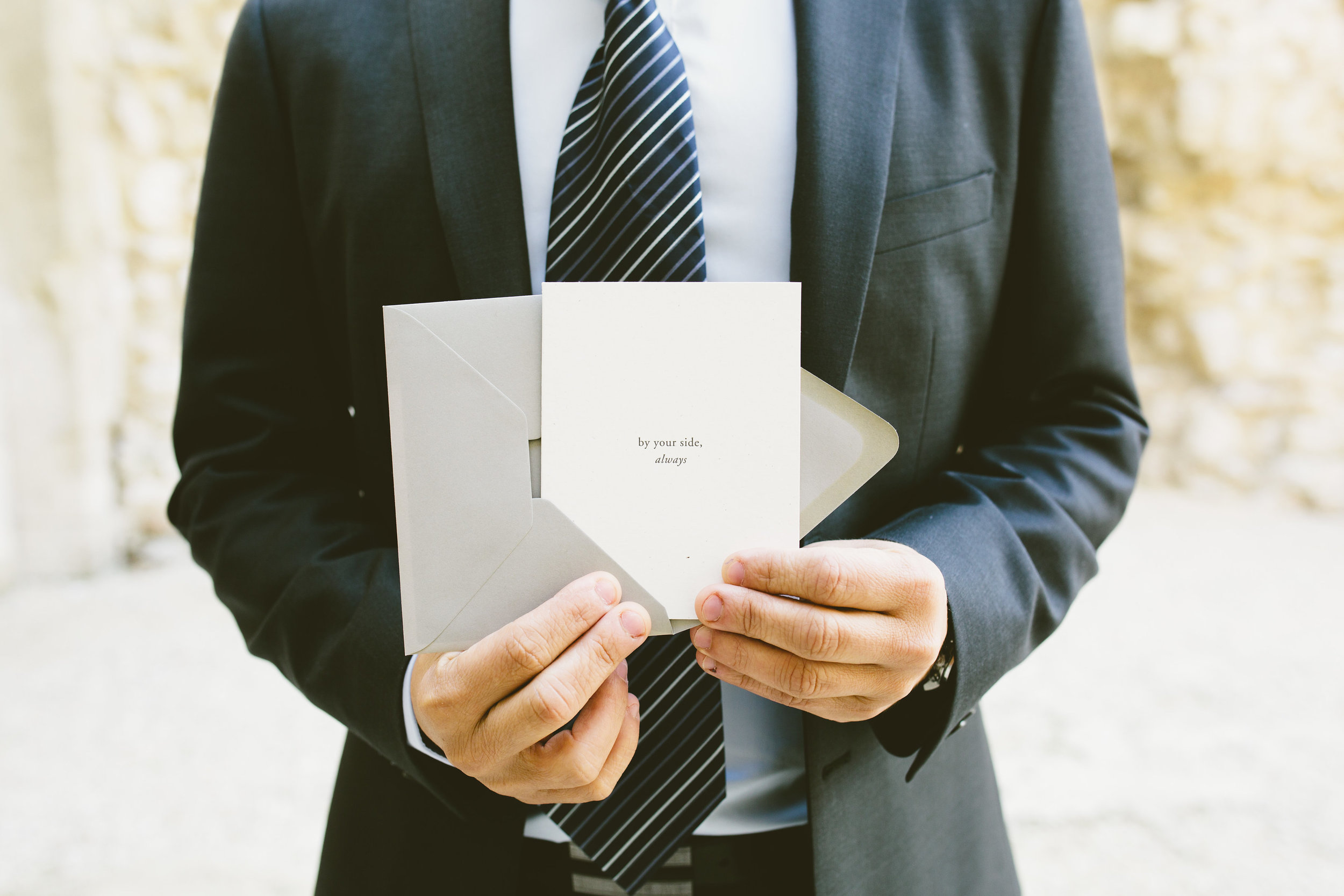By Your Side Always | Wedding Day Notes | Of Note Stationers | Amy Emily Photography