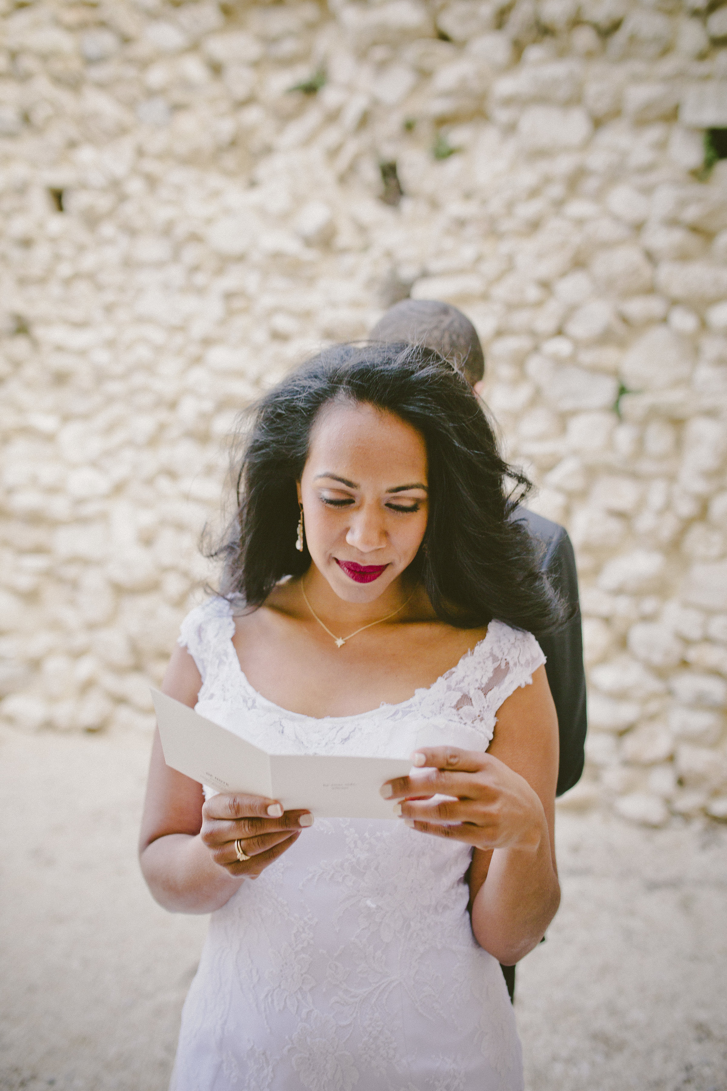 Meaningful First Look | Of Note Stationers | Amy Emily Photography