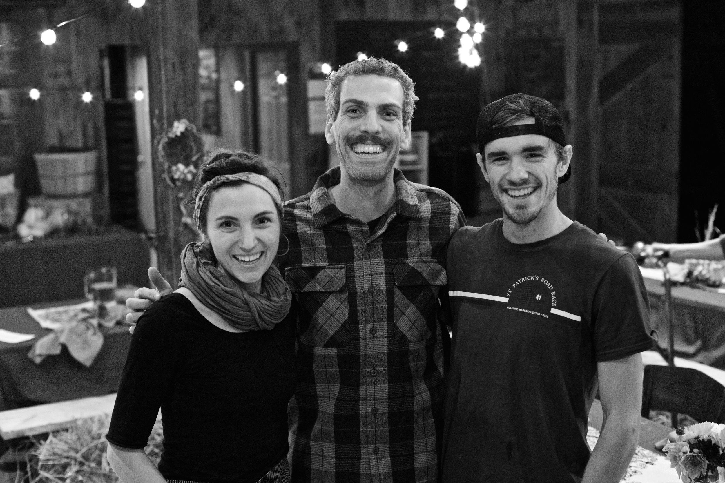 From left to right:Hillary Weber - Wheelhouse General Manager, Jake Mazar - Owner, Will Van Heuvelen - Owner