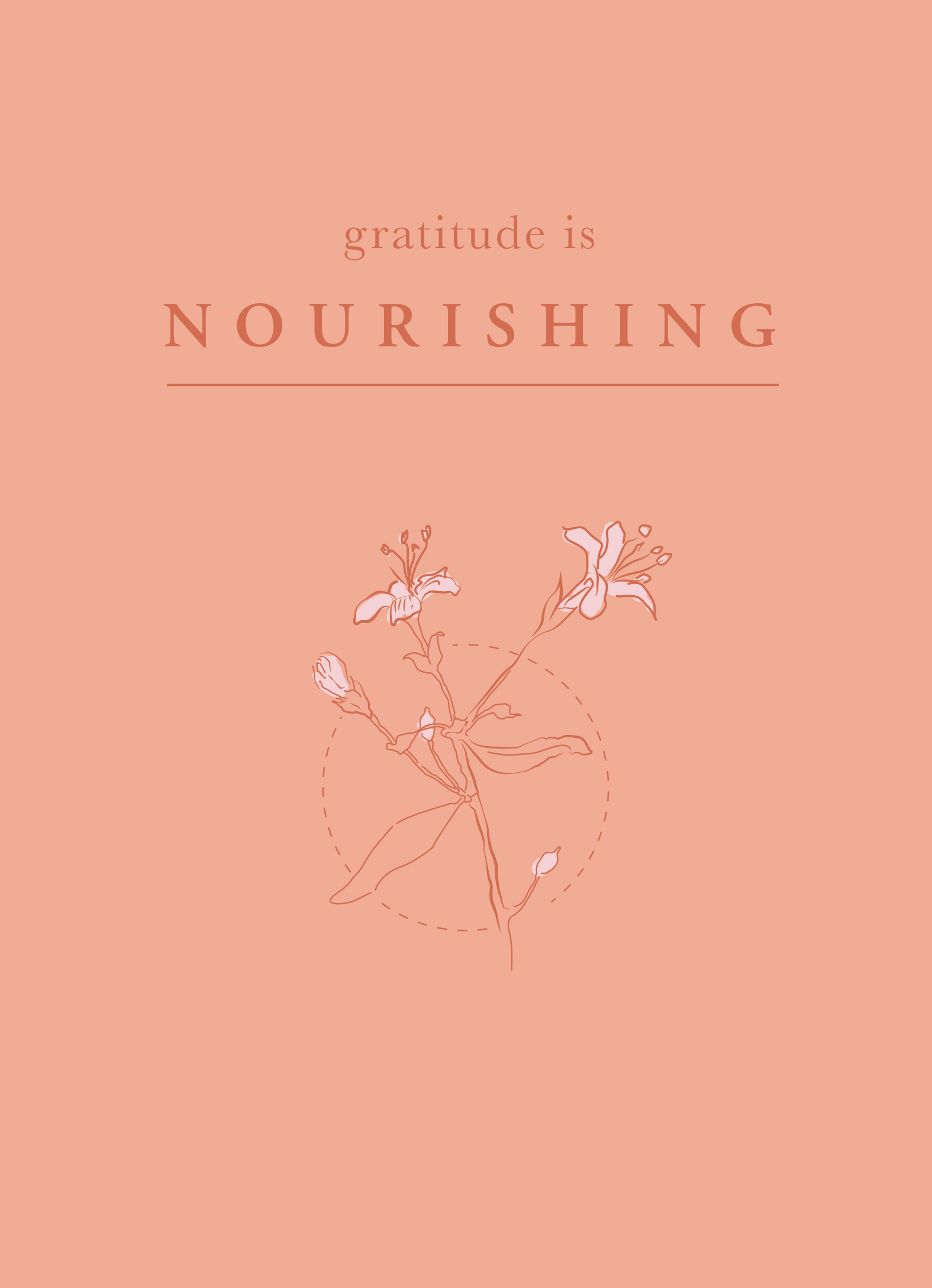 Gratitude is Nourishing | Of Note Stationers