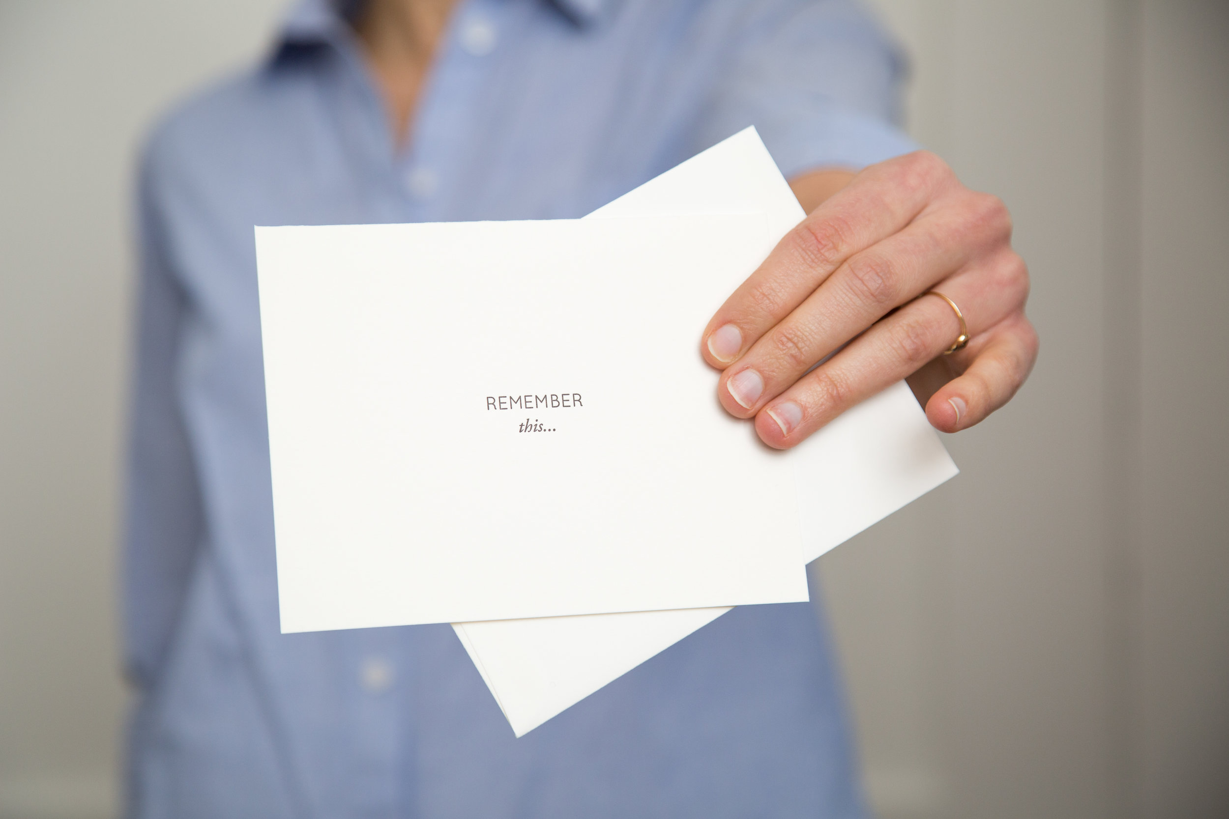 Remember this... your job does not define you | Letterpress cards for encouragement and support by Of Note Stationers
