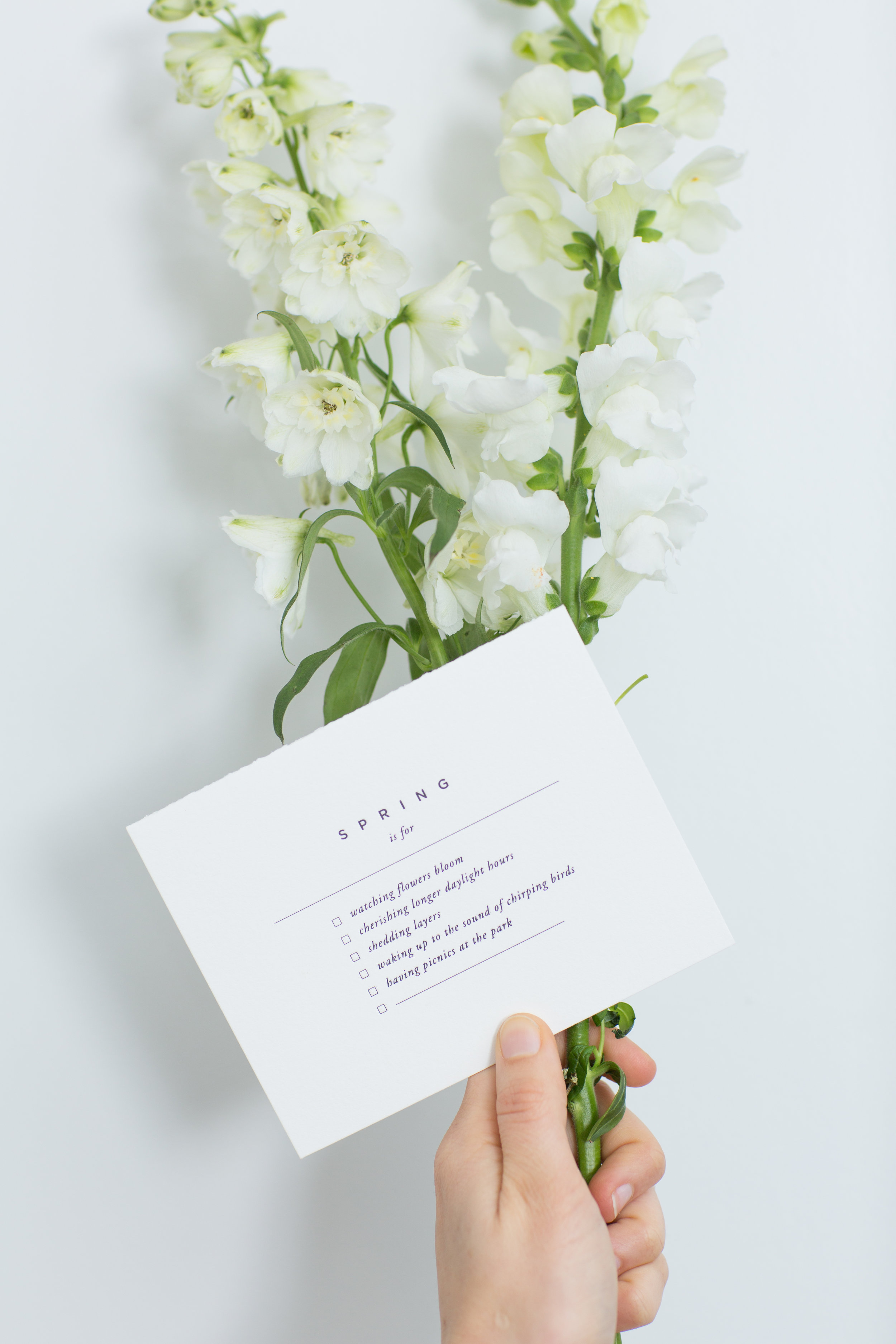 Spring Checklist   Letterpress Cards   Of Note Stationers