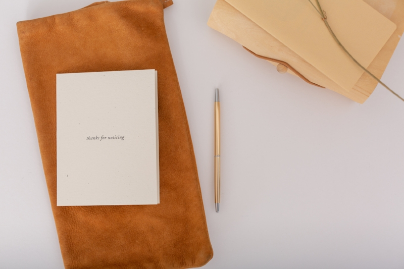 Thanks for Noticing | Letterpress Stationery for a Gratitude Practice | Of Note Stationers
