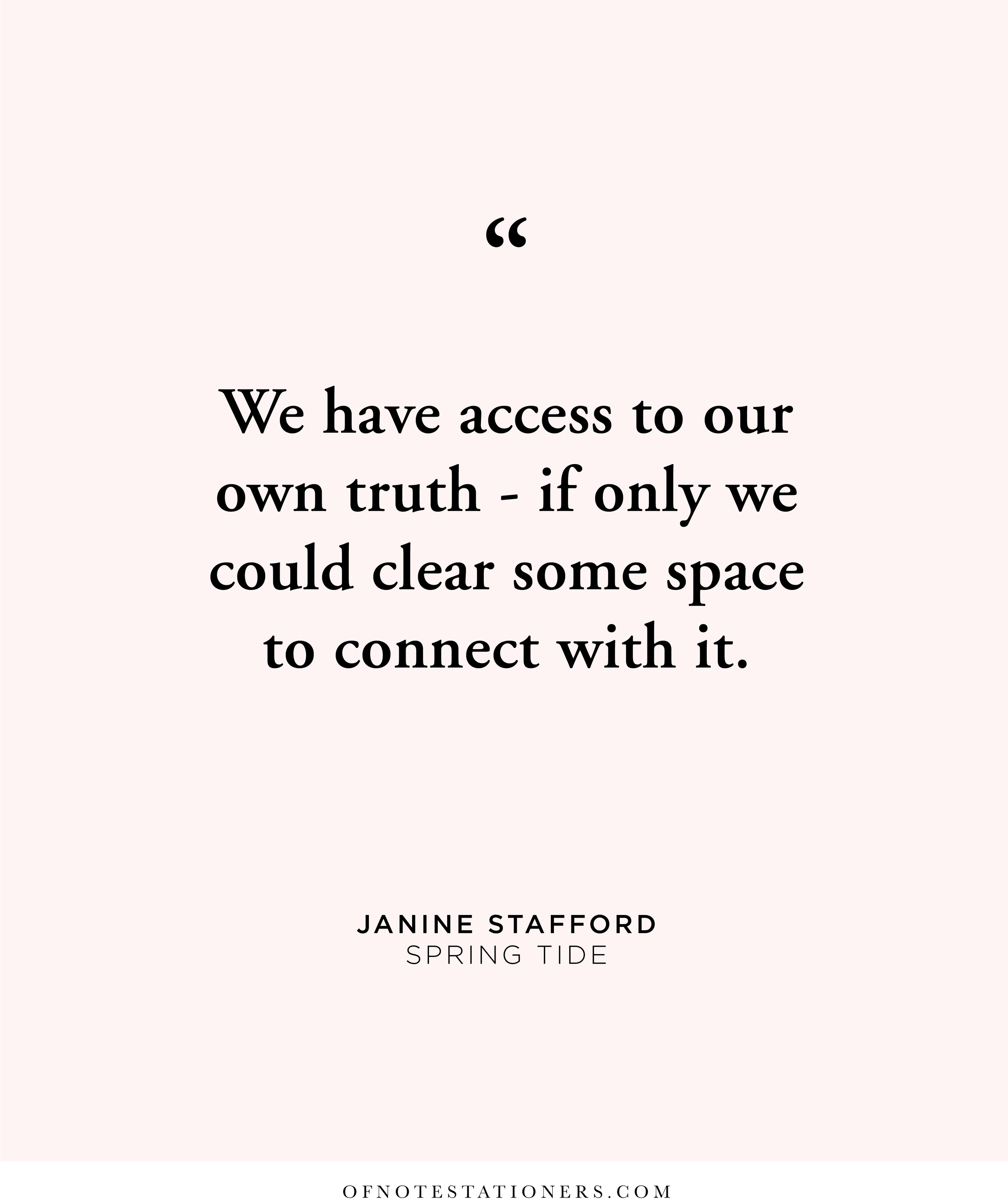Janine Meaghan Stafford on re-connecting | Of Note Stationers blog