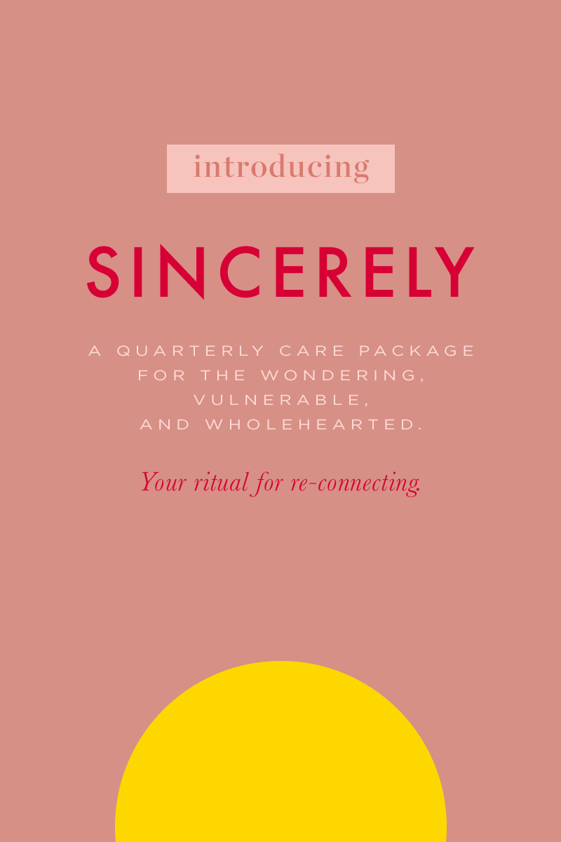 Sincerely, a quarterly care package for the wondering, vulnerable, wholehearted | Of Note Stationers