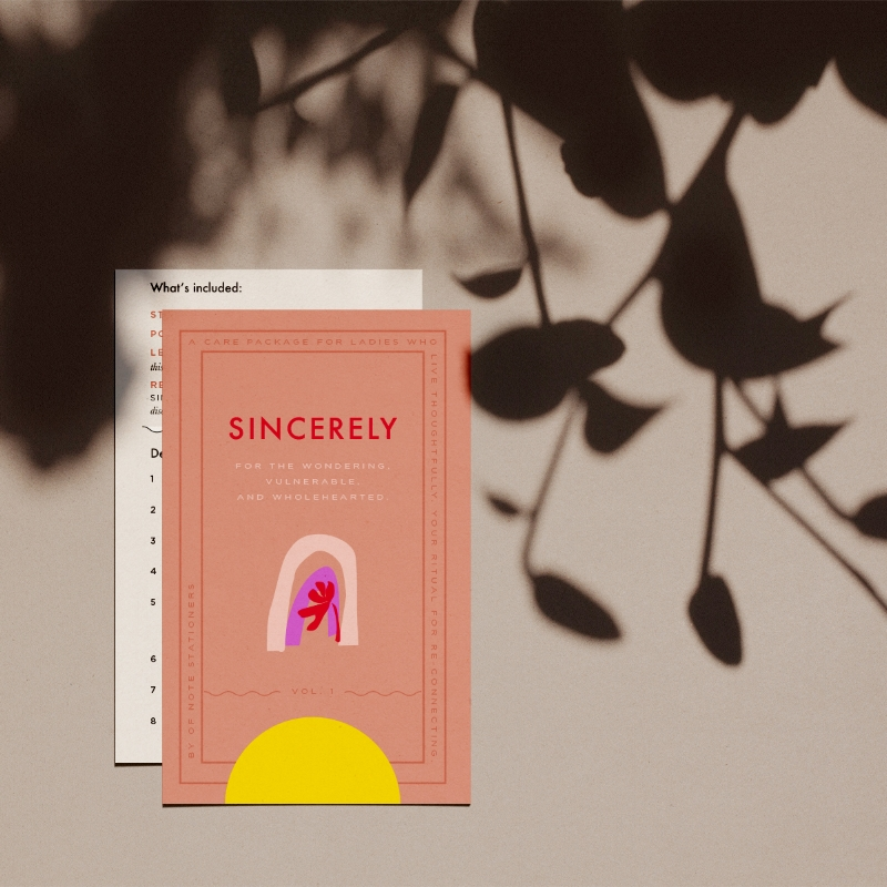 Sincerely, a quarterly care package for re-connecting | Volume 1: Gratitude by Of Note Stationers