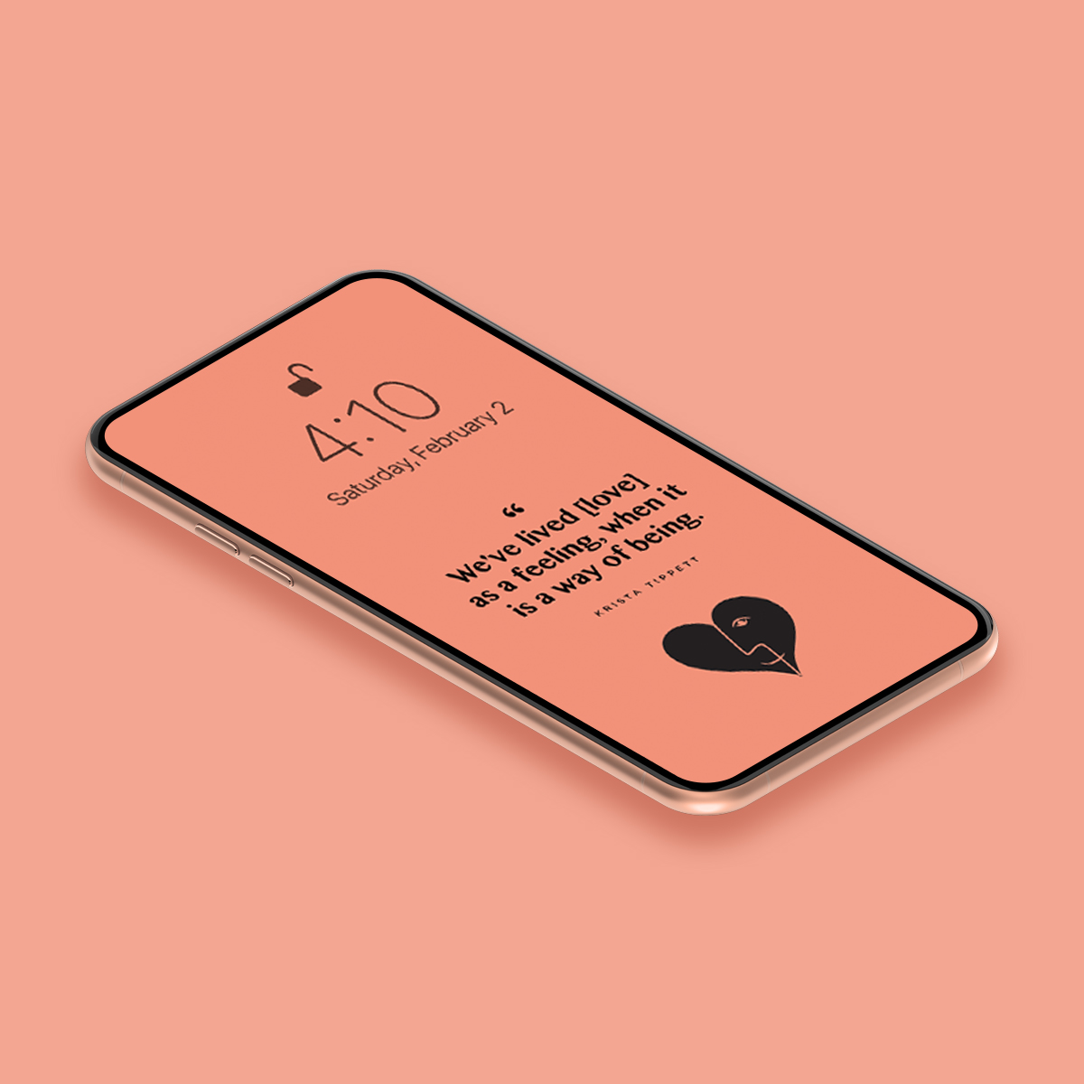 Cellphone Wallpaper | Krista Tippett on Love | Of Note Stationers