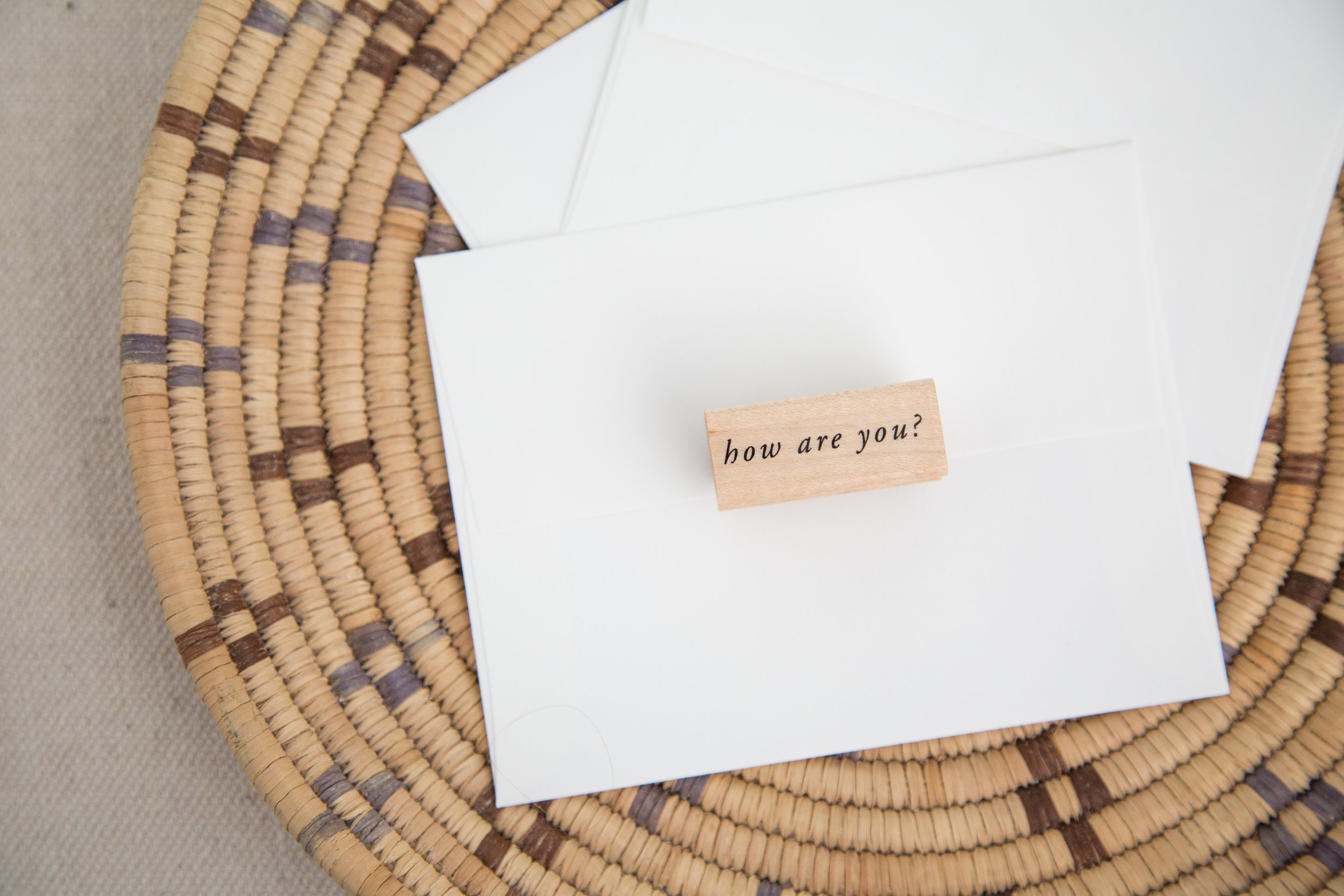 How are you? | Rubber stamp for connecting intentionally and meaningfully | Of Note Stationers
