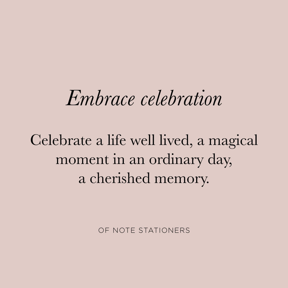 Embrace Celebration | Current Invitation from Of Note Stationers