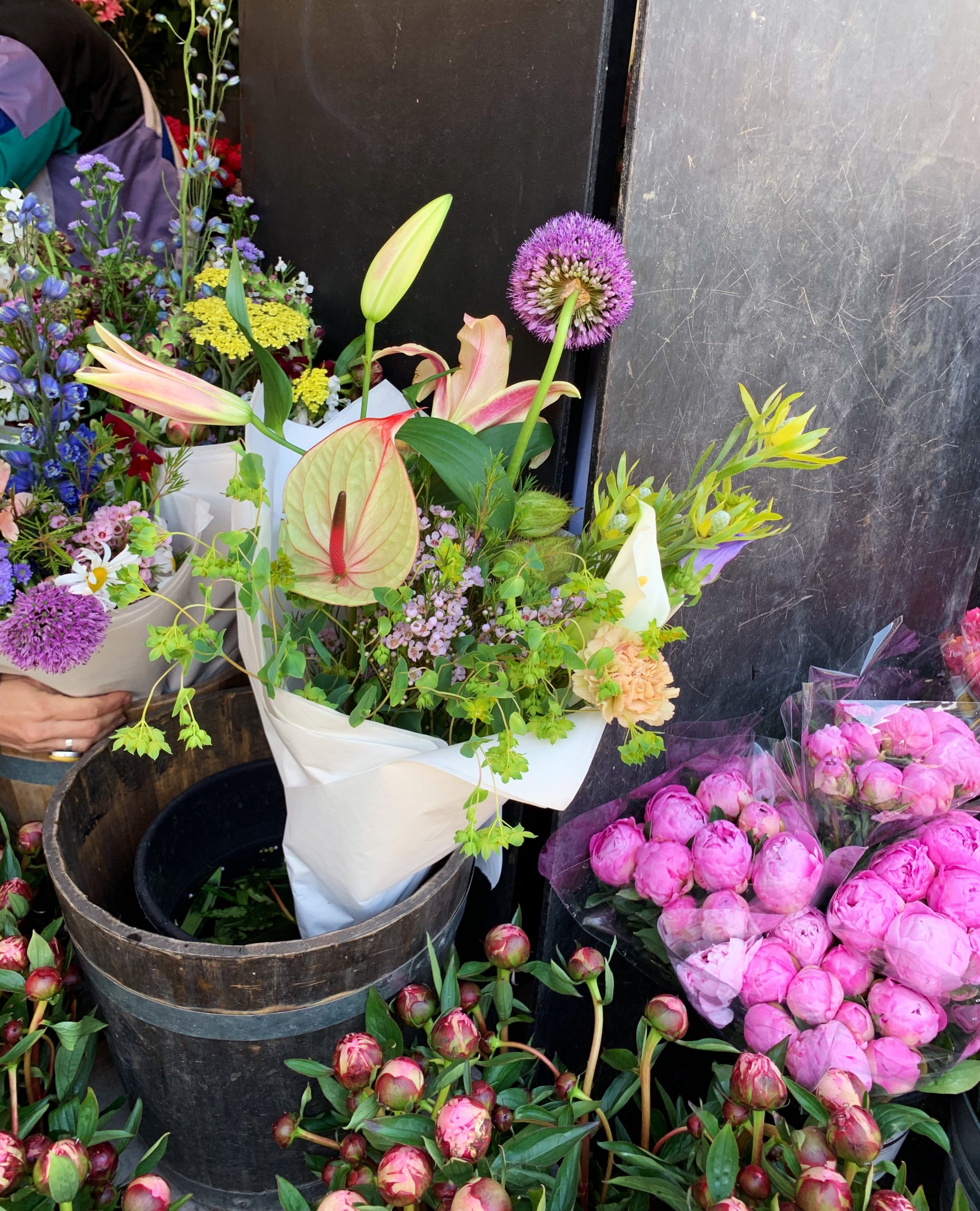 Flowers from a gorgeous market where Isabel and her friend stopped for refreshments.