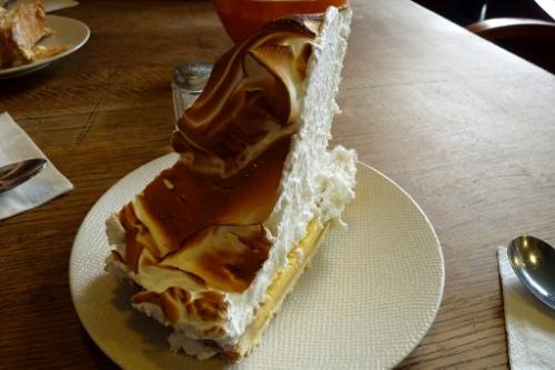 Some of Paris's tallest lemon meringue pie in the Mariais