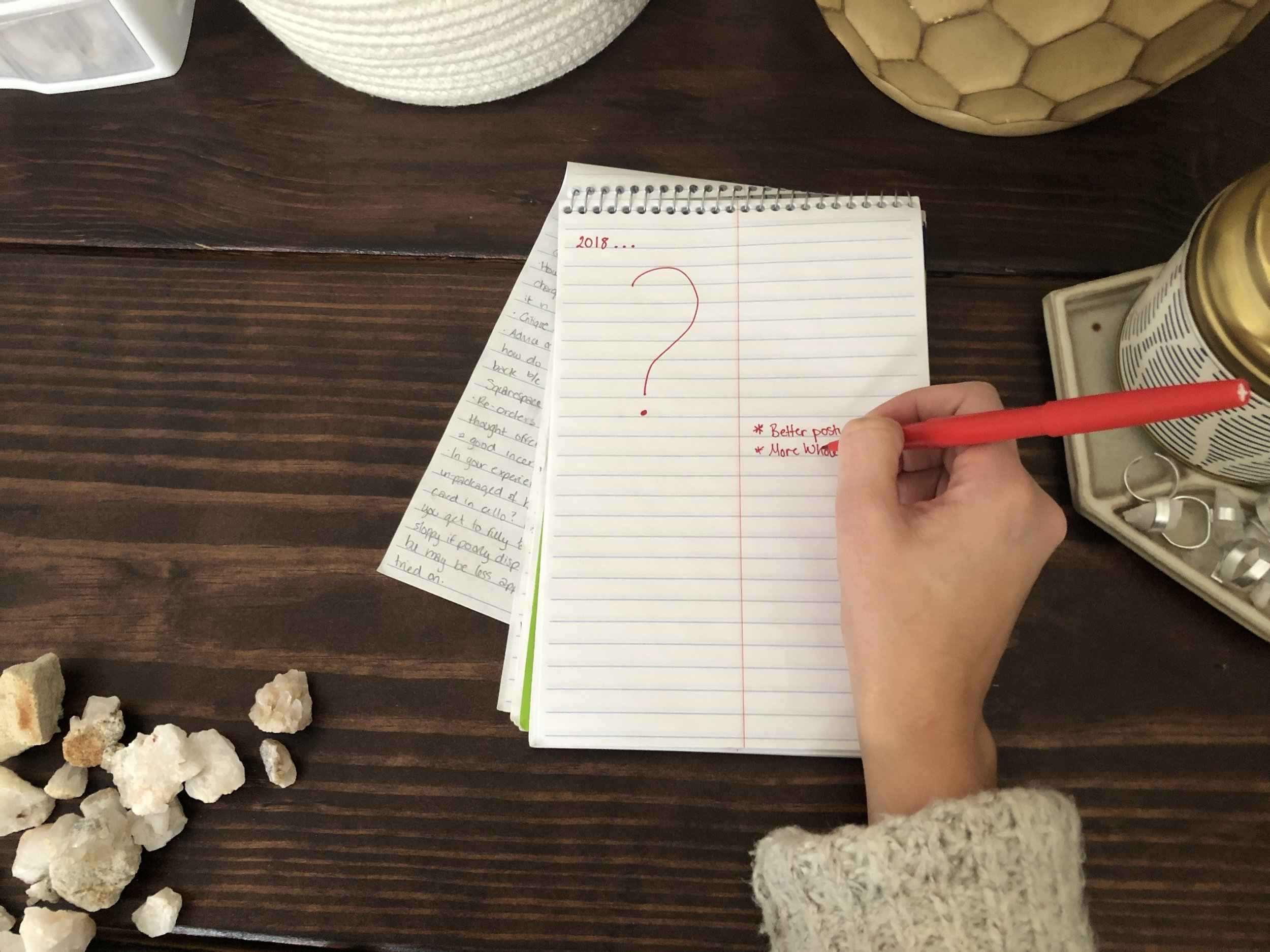 Writing Resolutions or Waiting