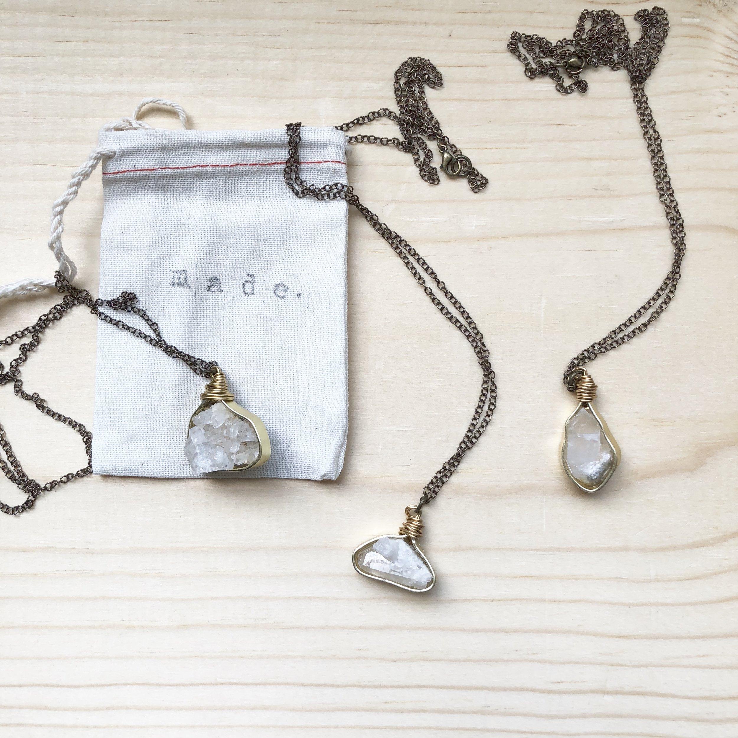 Best Conversation Starter - Antique Brass Cluster Necklace