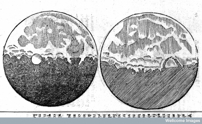 Drawing of two moons by Galileo Galilei, Wellcome Library London