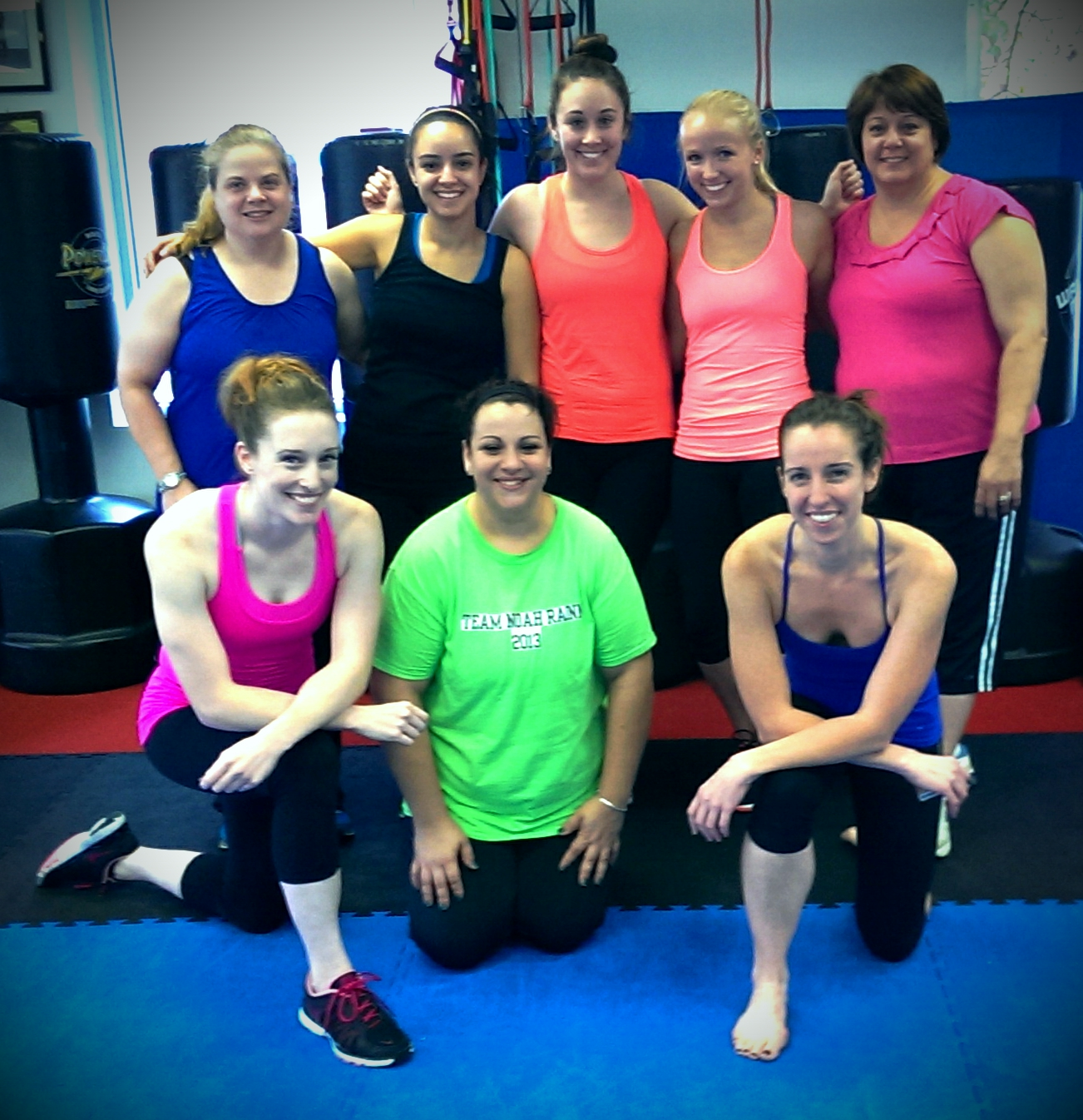 The wonderful women Angela (bottom right) and I are honored to have trained during Agostini's 12 Weeks of Christmas Fitness Challenge (2013-2014).