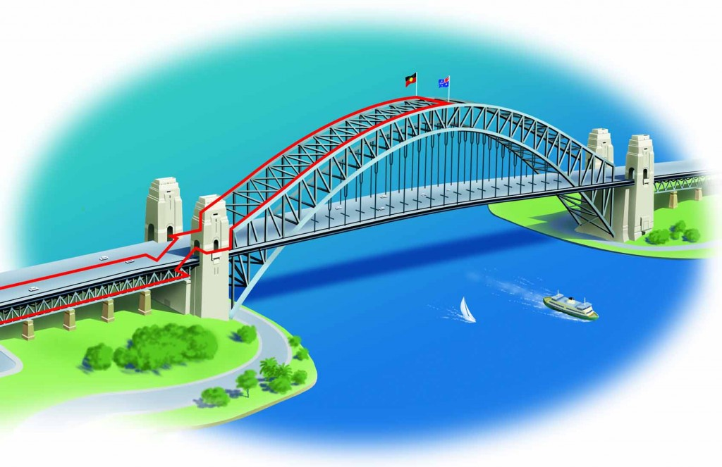The Bridgeclimb route  |  Photo Credit:  www.bridgeclimb.com