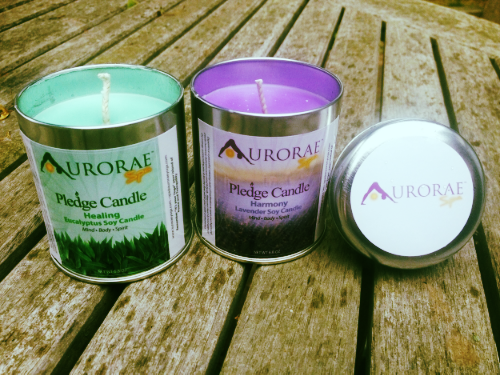 Lavender and Eucalyptus soy aromatherapy candles from Aurorae