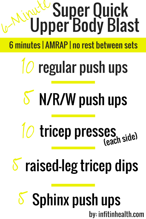 6-Minute Super Quick Upper Body Blast