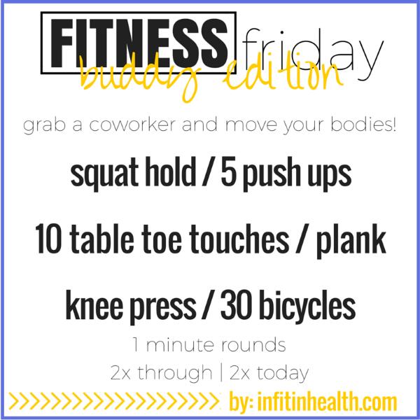 Fitness Friday 7/24: Buddy Edition!