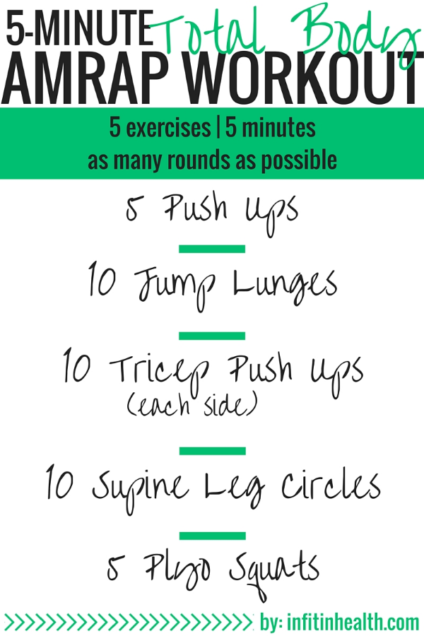 5-Minute Total Body AMRAP Workout