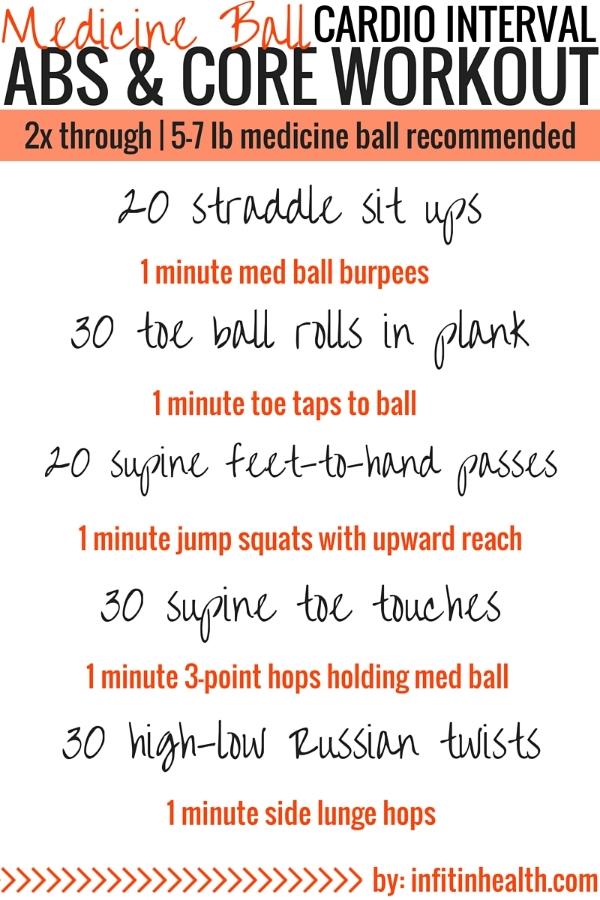 Medicine Ball Cardio Interval Abs & Core Workout