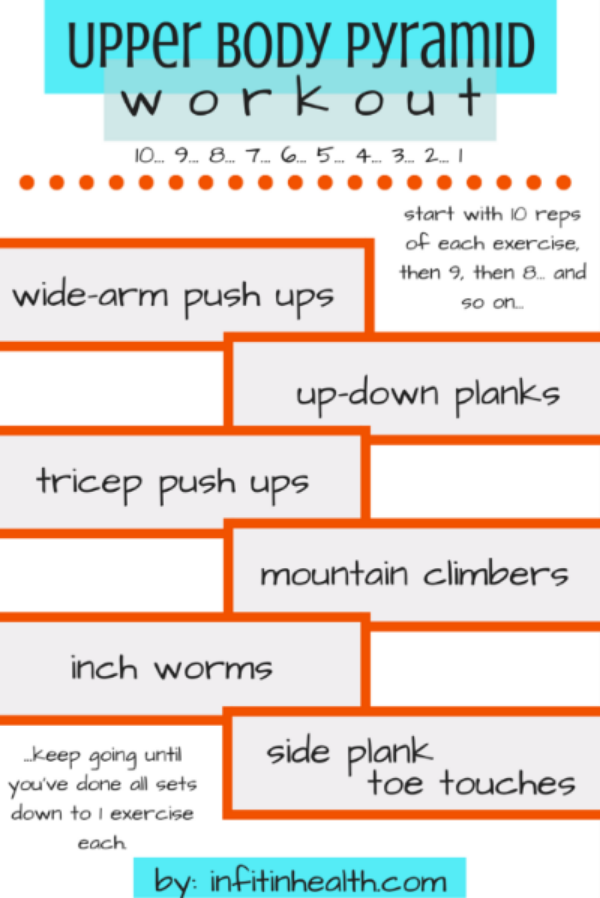 Upper Body Pyramid Workout