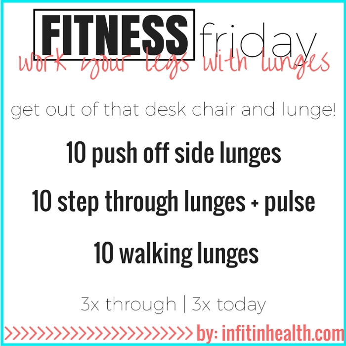 Fitness Friday 9/25: Work Your Legs with Lunges