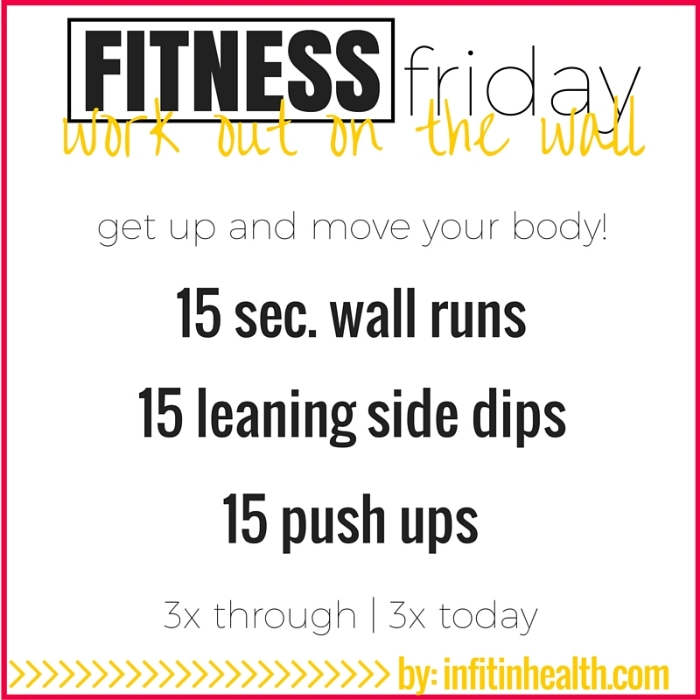 Fitness Friday 10/9: A Mini Wall Workout