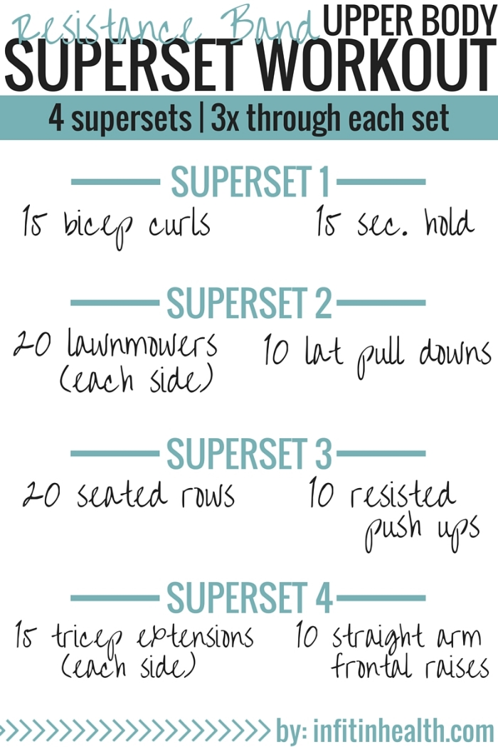Resistance Band Upper Body Superset Workout