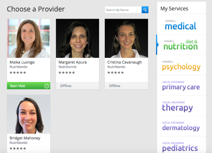 Option to choose a provider