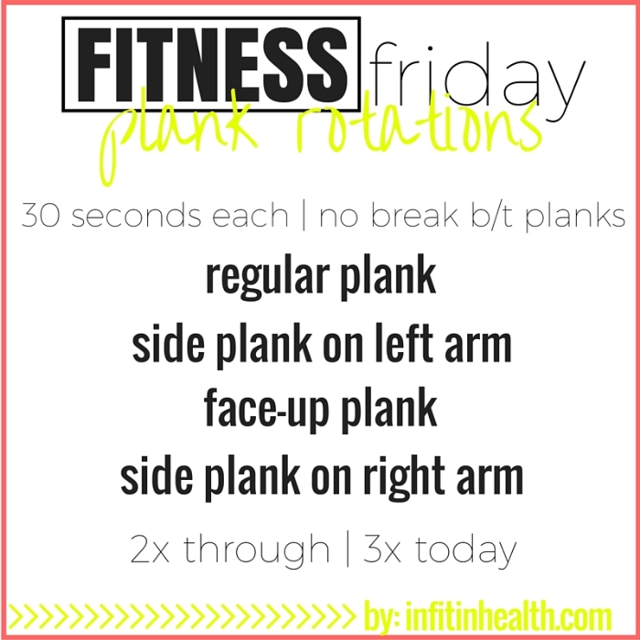 Fitness Friday 12/18: Plank Rotations
