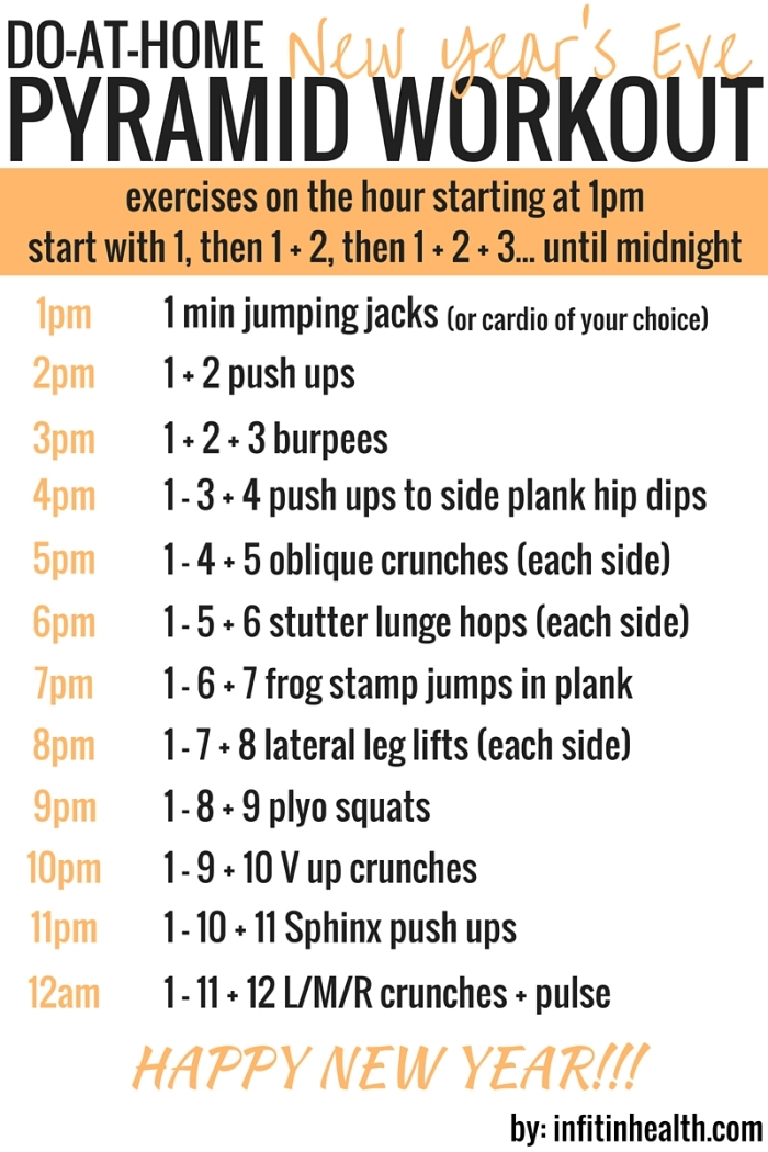 Do-At-Home New Year's Eve Pyramid Workout